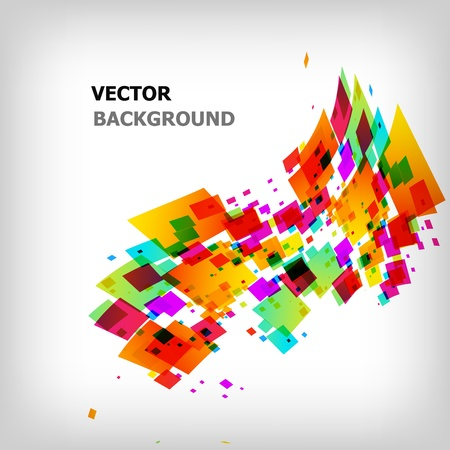 the abstract square colorful background Ilustrace