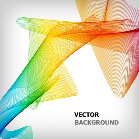 the abstract smoke colorful background Vector