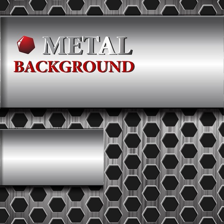 the abstract metallic background Vector