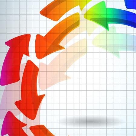 the abstract color arrow background Vector