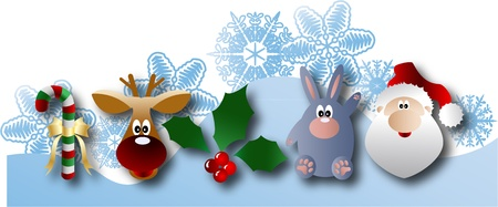 the Christmas and New Year banner  Vector