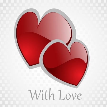 Vector background Day Valentine on White Vector