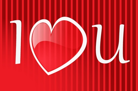 background Day Valentine on Red Vector