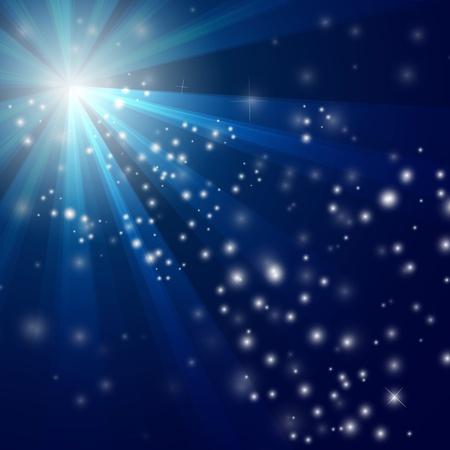 excitement: Иллюстрация абстрактных синем фоне света