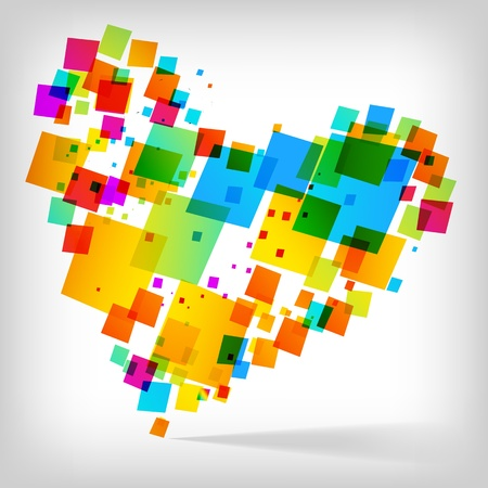 the abstract heart colorful background  Vector