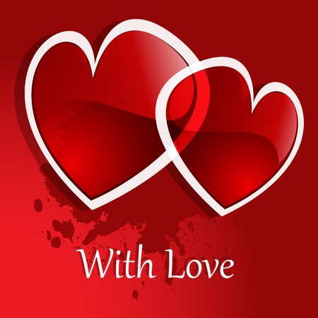 Vector background Day Valentine on Red Vector