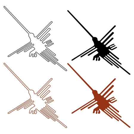 geoglyphs: Nazca Lines Set - Vector illustration