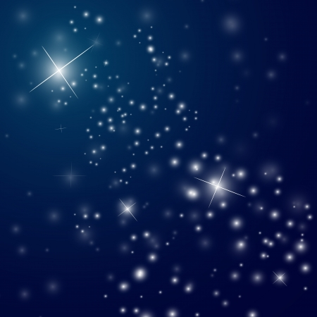cartoon star: abstract starry night sky - vector illustration