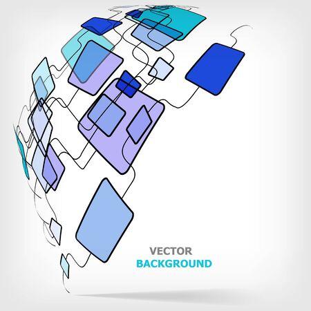 Retro Abstract Design Colorful Square Template - vector illustration Stock Vector - 12201878