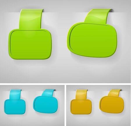 Color Blank Banner Display Template Set For Design Work  - Vector Illustration Vector