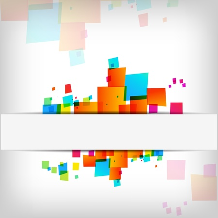 Abstract colorful background - Vector Illustration