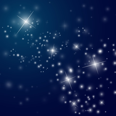 abstract starry night sky - vector illustration Stock Vector - 12494719