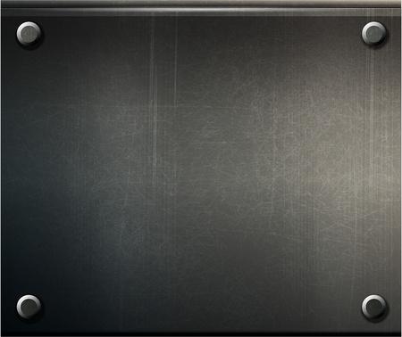 vecteur grunge plaque métallique de fond avec les vis eps 10 Vecteurs