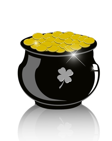 Pot of gold - Vector Illustration eps10 Stock Vector - 12494706