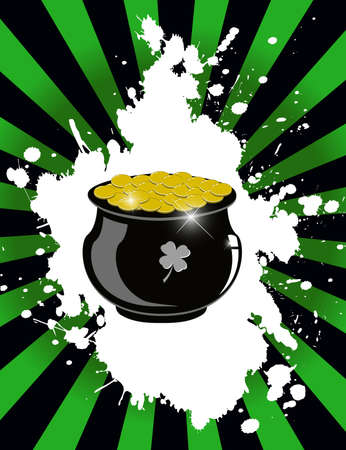 Pot of gold - Vector Illustration eps10 Vector