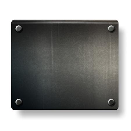 Vektor-Grunge-Hintergrund Metallplatte mit Schrauben eps 10 Standard-Bild - 12496587