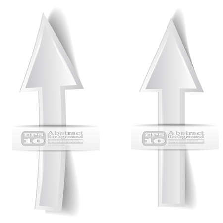 vector illustration of two white arrow on white background Vector