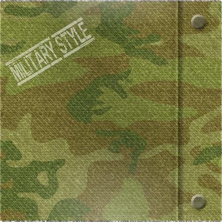 Abstrakte Camouflage-Muster Hintergrund - Vektor-Illustration Standard-Bild - 12496617