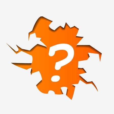 question mark: Abstract Illustrazione di punto interrogativo nel foro - illustrazione vettoriale