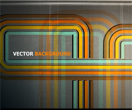 abstract color strip metal grunge background. vector illustration Stock Vector - 12902666