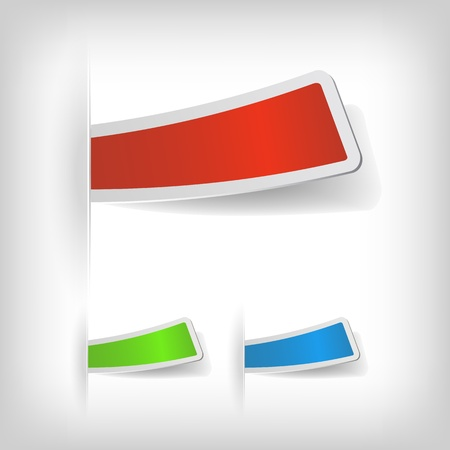 businnes: the abstract colored sticker set - vector illustration