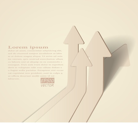 eps10 vector background: abstract vector 3D arrows background - eps10 illustration