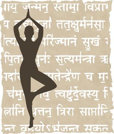 Mantra: abstrakte Meditation Leute Hintergrund - Vektor-Illustration