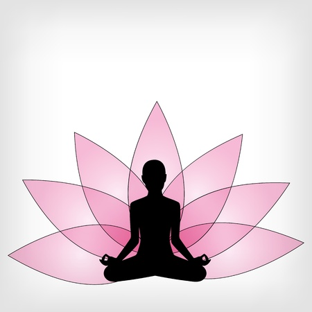 de fondo de yoga abstracto - ilustración vectorial