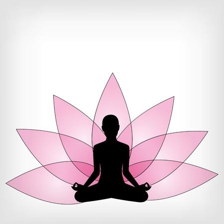 yoga meditation: yoga sfondo astratto - illustrazione vettoriale