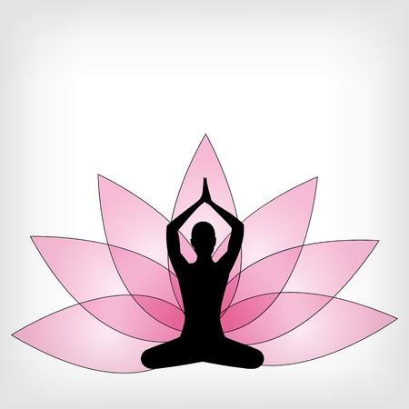 hand position: de fondo de yoga abstracto - ilustraci�n vectorial Vectores
