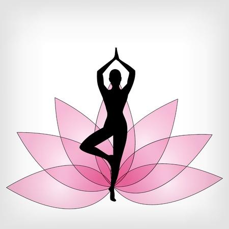 yoga meditation: abstract yoga background - vector illustration Illustration