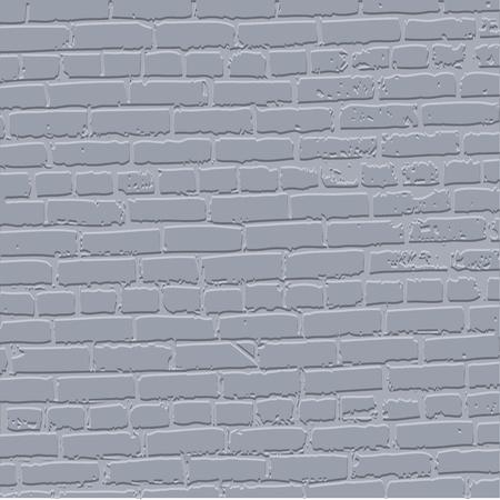 Grey grunge bricked wall background - vector illustration Illustration