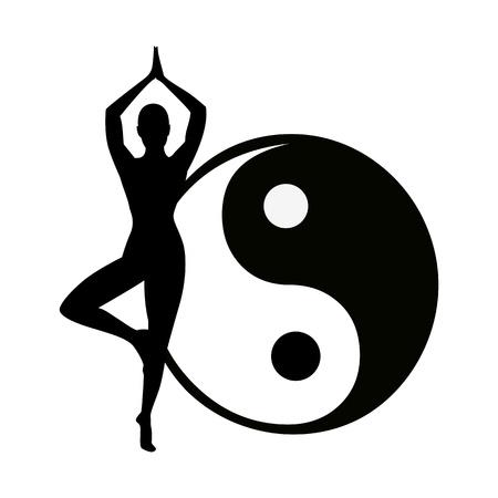 arrière-plan abstraite de yoga - illustration vectorielle