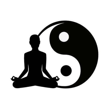 yoga sfondo astratto - illustrazione vettoriale