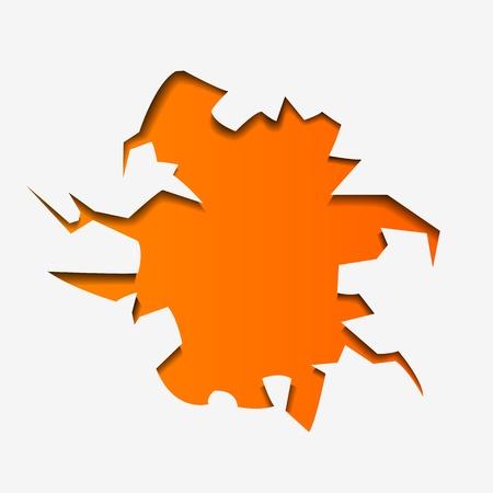Abstract Illustration hole - vector illustration