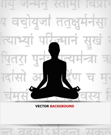 abstract yoga background - vector illustration Stock Vector - 13457111