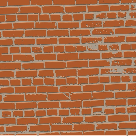 grunge bricked wall background - vector illustration Stock Vector - 13450356