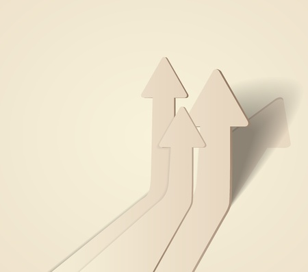 move forward: abstract 3D arrows background illustration