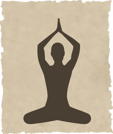 abstract meditating people background illustration Vectores