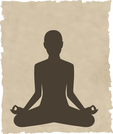 abstract meditating people background illustration Vector