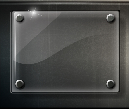 aluminio: resumen de la placa de color negro brillante en la ilustraci�n de rejilla met�lica Vectores