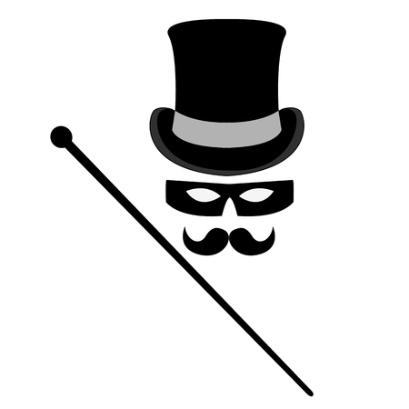 groucho: abstract incognito symbols set illustration Illustration