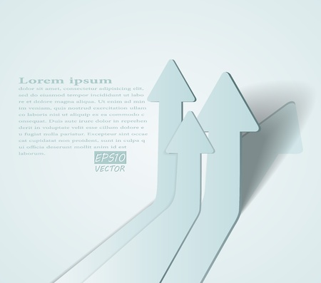 abstract 3D arrows background illustration Vector