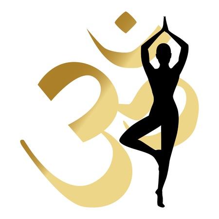 yoga meditation: abstract yoga sfondo illustrazione