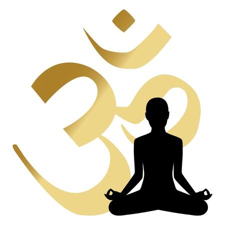 abstract yoga sfondo illustrazione Vettoriali