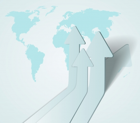 financial leadership: abstracta 3D flechas de fondo Vectores