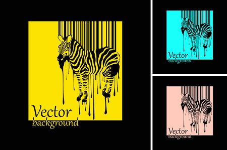 warhol: abstract zebra silhouette with barcode