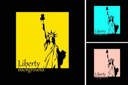 la Statue de la Liberté de fond rétro Vecteurs