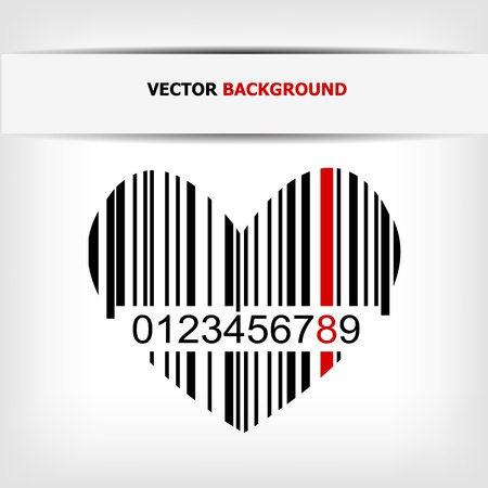 Barcode image with red strip  Stock Vector - 14030465