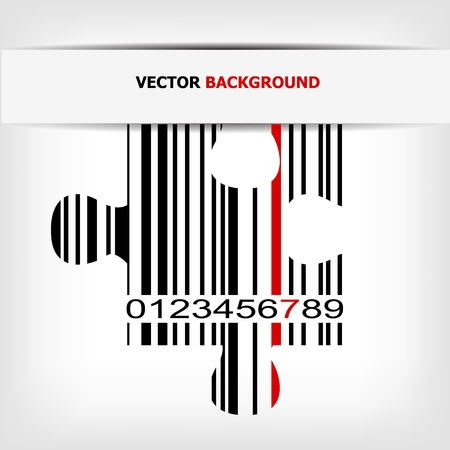 Barcode image with red strip Stock Vector - 14030461